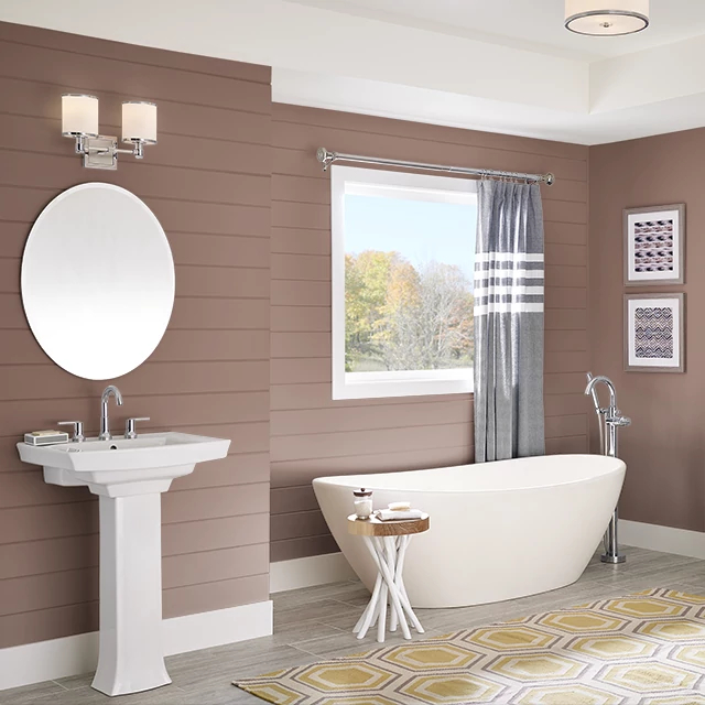 Bathroom painted in BROWN CHIPOTLE