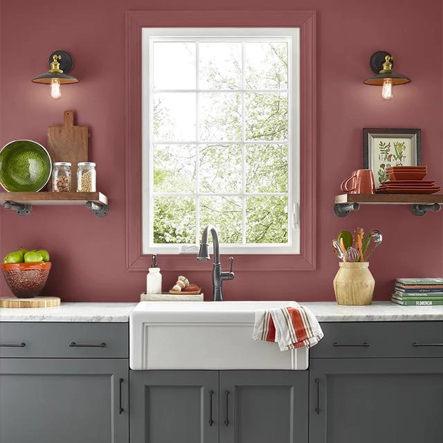 Kitchen painted in FRANCESCA
