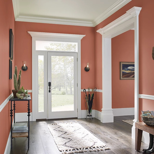 Foyer painted in SCORCHING HOT
