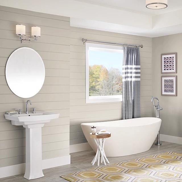 Bathroom painted in BURIED IN SAND