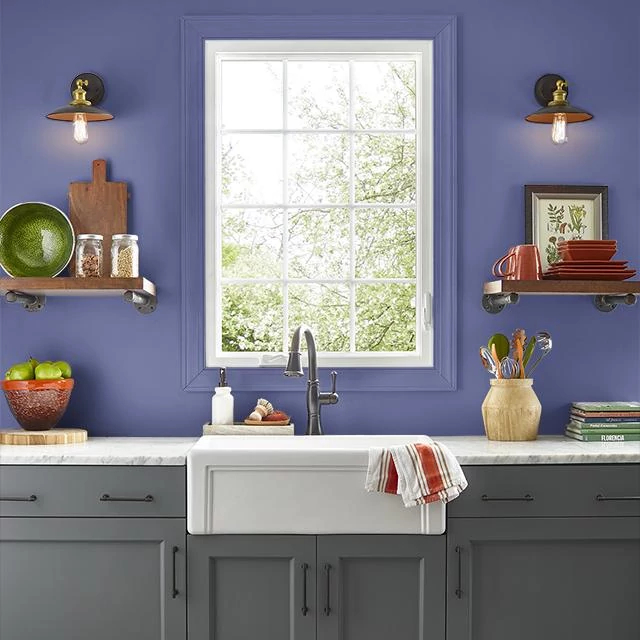 Kitchen painted in SAPPHIRE SEQUIN
