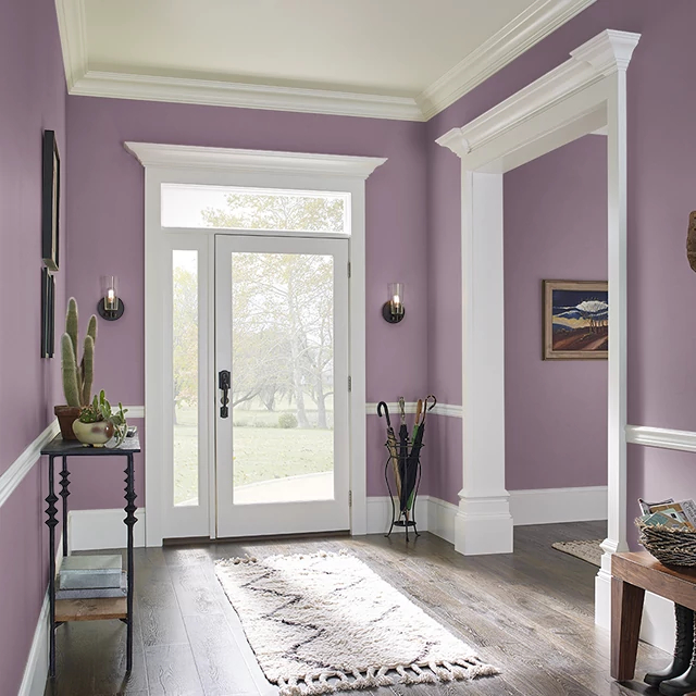 Foyer painted in BURGUNDY FROST