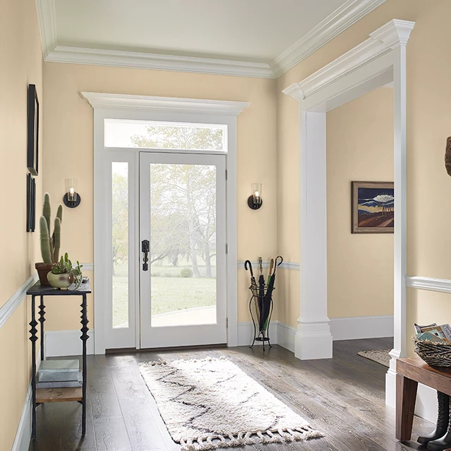 Foyer painted in EGGNOG LATTE