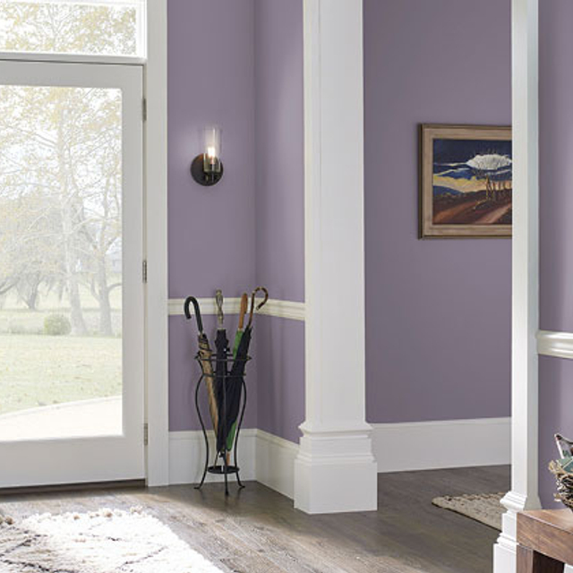Foyer painted in ORCHID SMOKE
