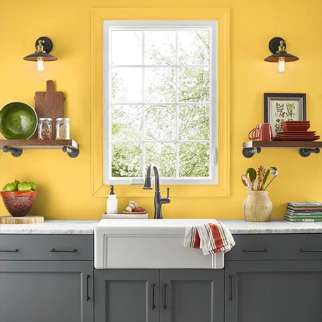 Kitchen painted in EXTROVERT
