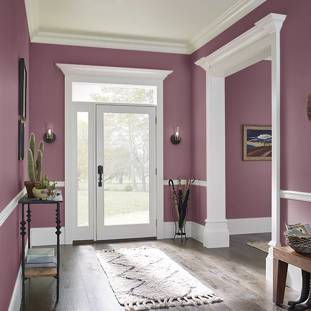 Foyer painted in CRANBERRY SPICE