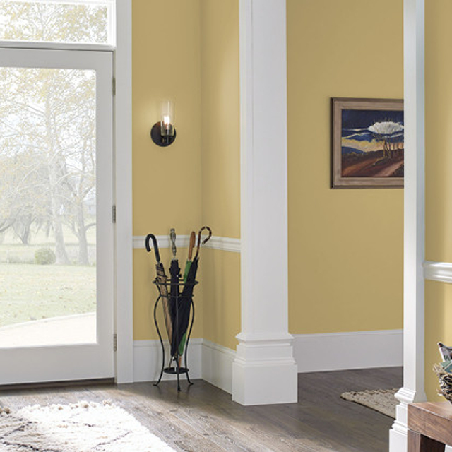 Foyer painted in CANARY SONG