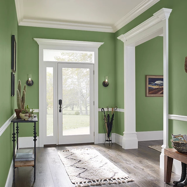 Foyer painted in PLANT STEM