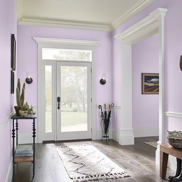 Foyer painted in CLASSIC ROSE