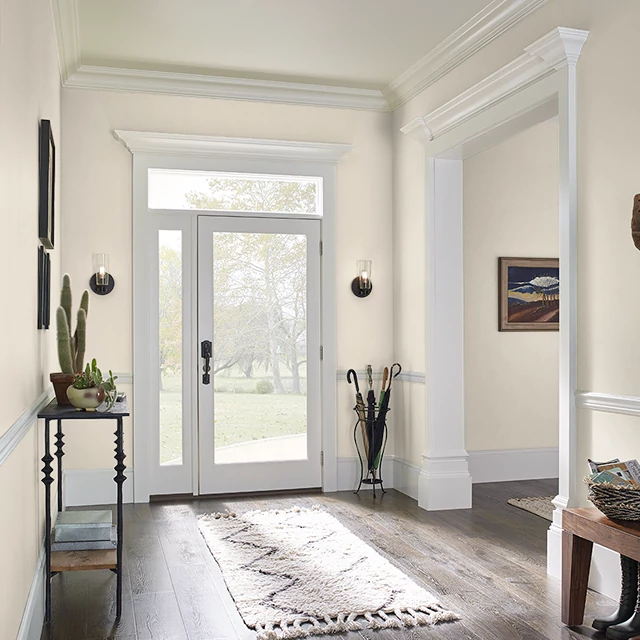 Foyer painted in NATURAL WAX