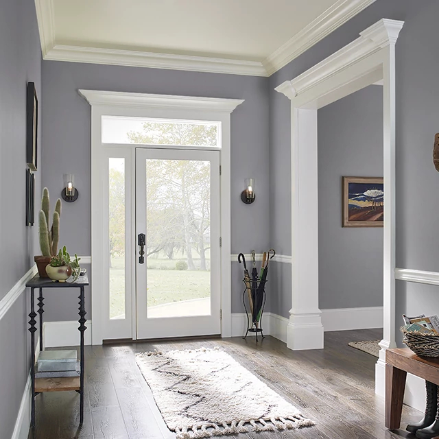 Foyer painted in WARRIOR