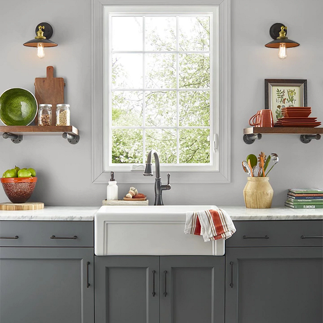 Kitchen painted in POSTCARD