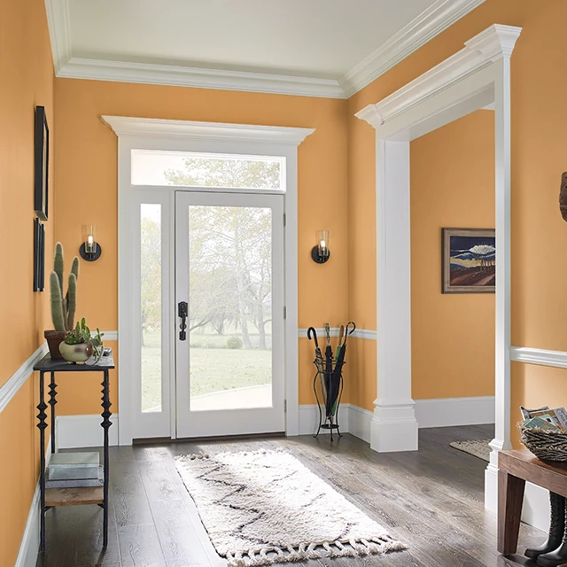 Foyer painted in HABANERO