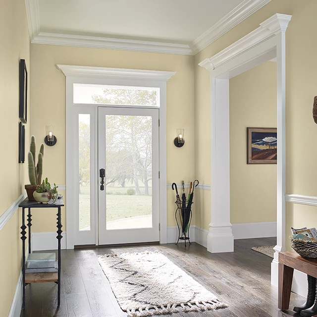 Foyer painted in GRASS SEED