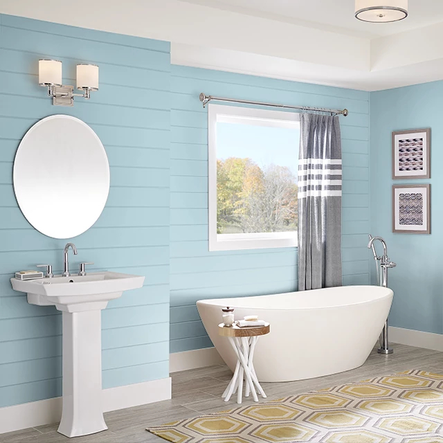 Bathroom painted in COOL VISTA
