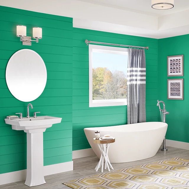 Bathroom painted in BEJEWELLED