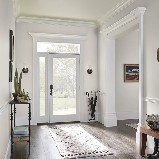 Foyer painted in BARELY MOCHA