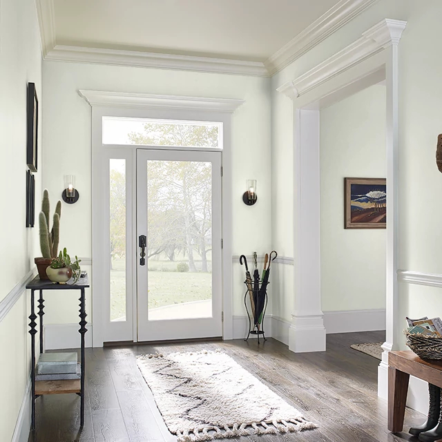 Foyer painted in SPRING BREEZE