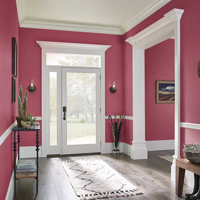Foyer painted in BRIGHT ORCHID