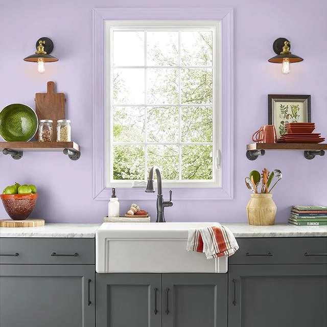 Kitchen painted in FEBRUARY AMETHYST