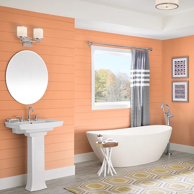 Bathroom painted in MISCHIEF