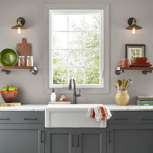 Kitchen painted in HISTORIC MONUMENT