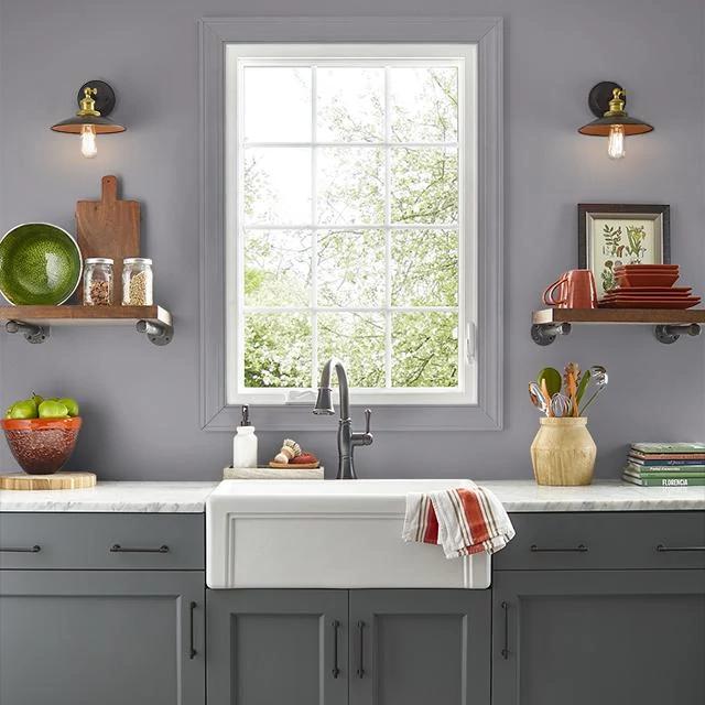 Kitchen painted in WARRIOR