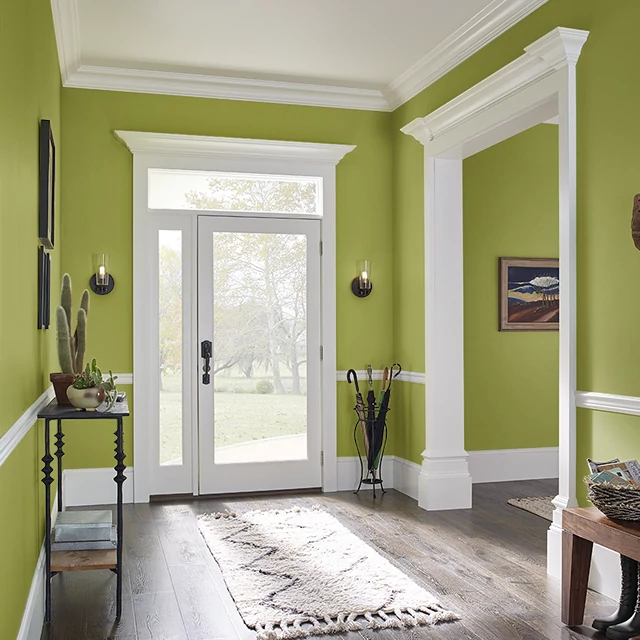 Foyer painted in BETTER LIME