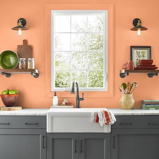 Kitchen painted in MISCHIEF