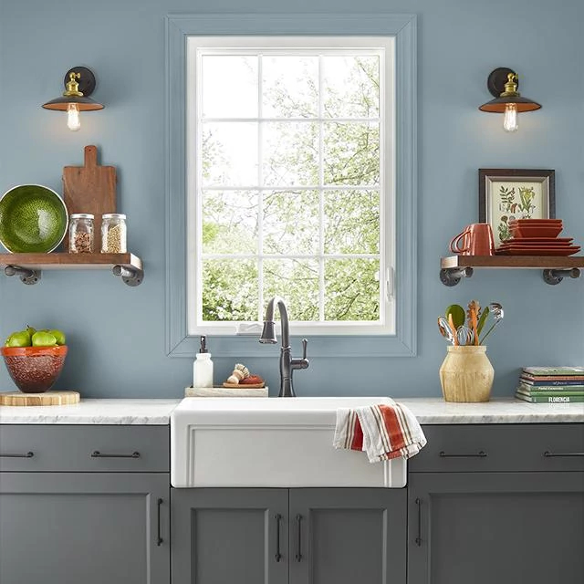 Kitchen painted in STRAY GRAY
