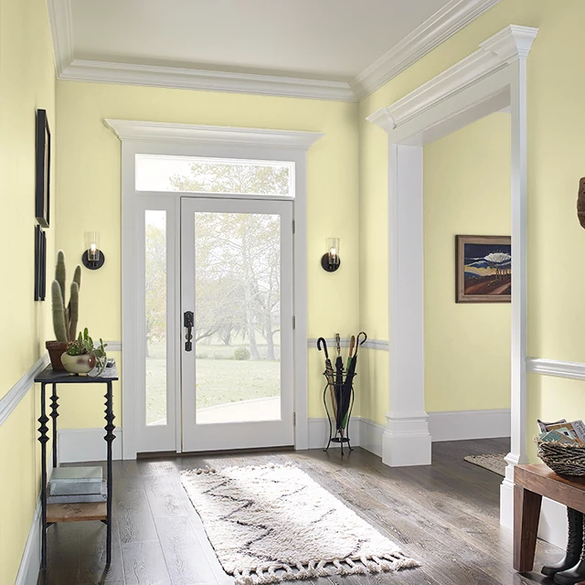Foyer painted in LIME SONG