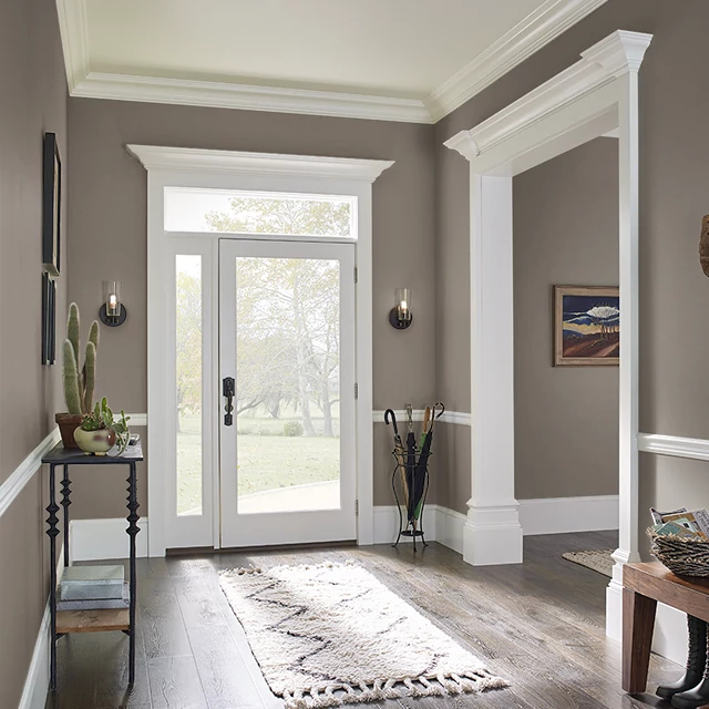 Foyer painted in HITCHING POST