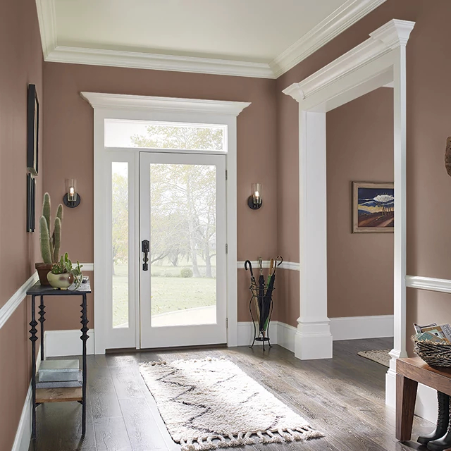 Foyer painted in MOCHA MADNESS