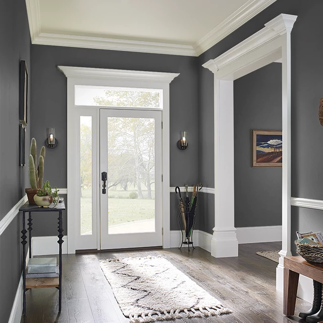 Foyer painted in DARK SKY