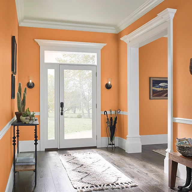 Foyer painted in LIGER