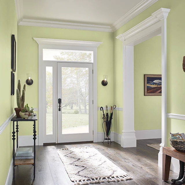 Foyer painted in BASIC LIME