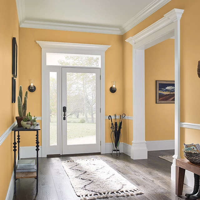 Foyer painted in SPAGHETTI SQUASH
