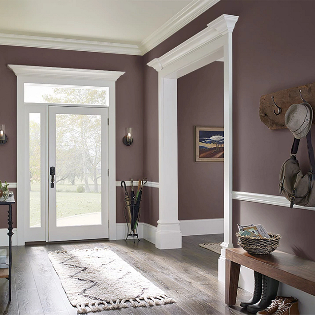 Foyer painted in BOOKMARKER