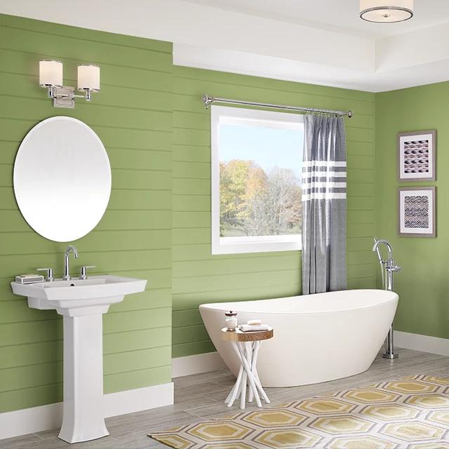 Bathroom painted in VITALITY