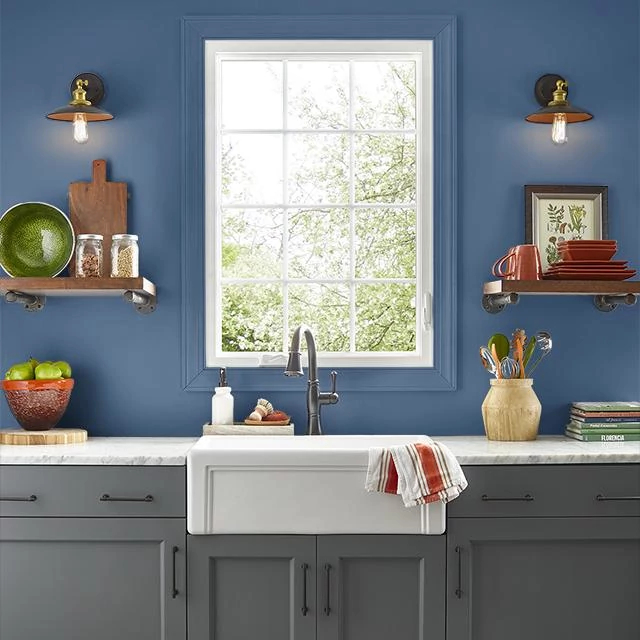 Kitchen painted in THUNDER NIGHT