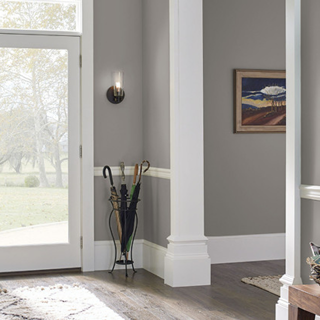 Foyer painted in CHALK SUEDE