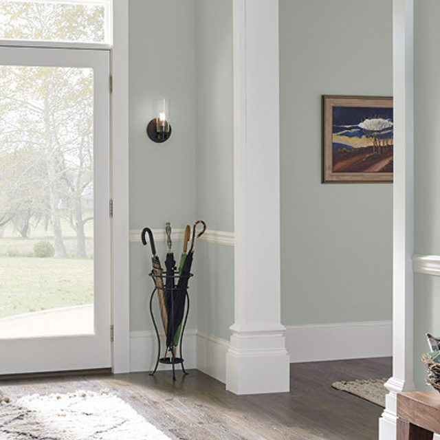 Foyer painted in LODEN FROST