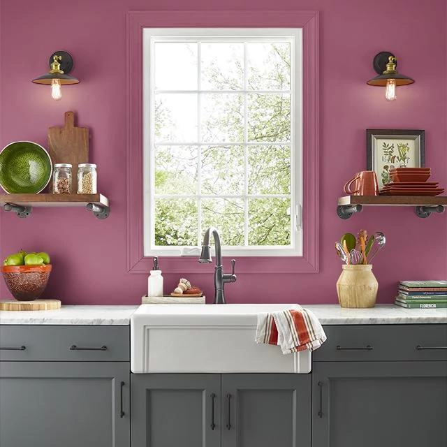 Kitchen painted in POTPOURRI