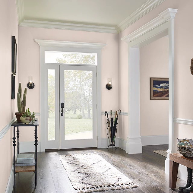 Foyer painted in TAUPE PEARLS