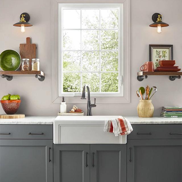 Kitchen painted in TRINKET