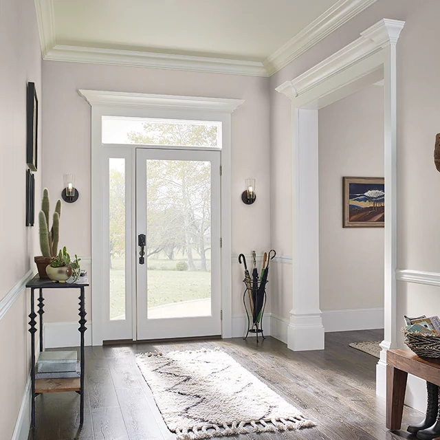 Foyer painted in IMPRESSIONIST TAUPE