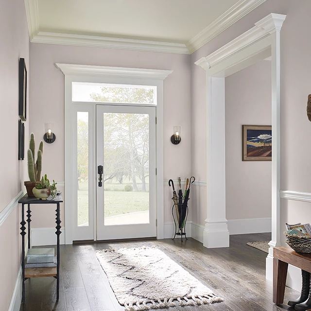 Foyer painted in DOVE FEATHER