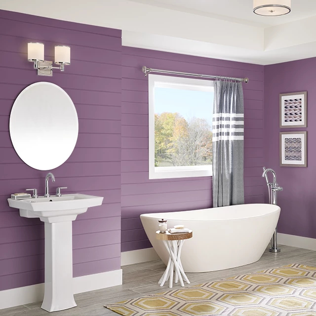 Bathroom painted in CUPID