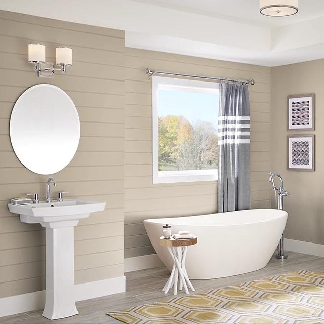 Bathroom painted in YORKSHIRE TAN