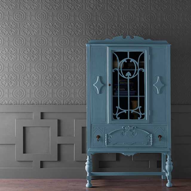 CHALK painted in SWEDISH BLUE